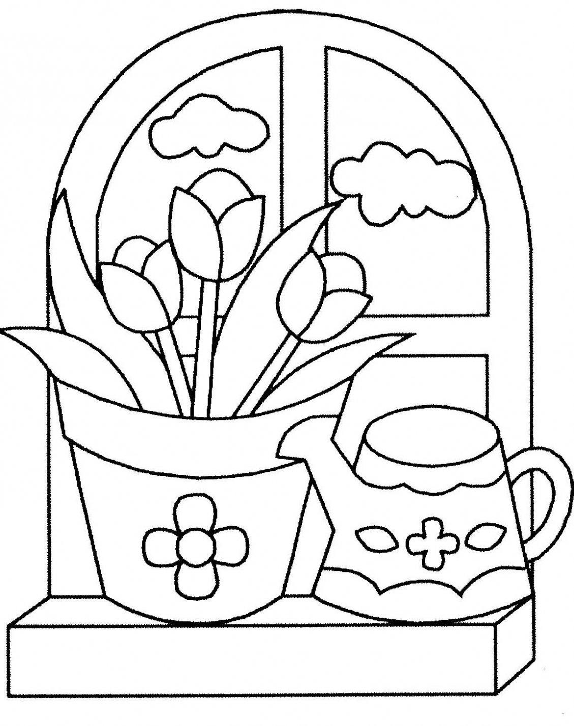 Dibujos de flores para imprimir y colorear para niños - Dibujo Y Pintura