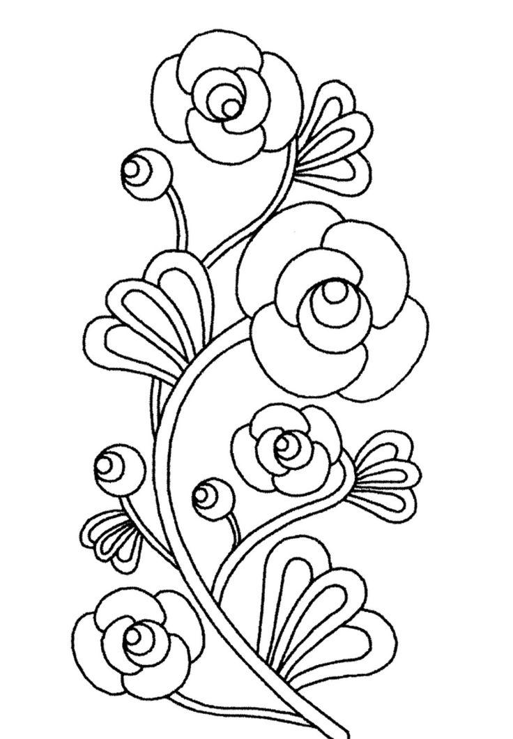 Perfecto Imprimir Páginas Para Colorear De Flores Ornamento - Ideas ...