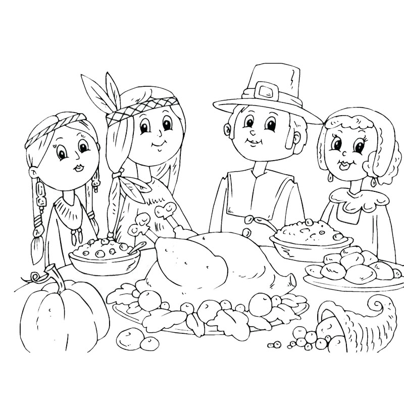 Dibujos Del Dia De Accion De Gracias Para Pintar Y Colorear
