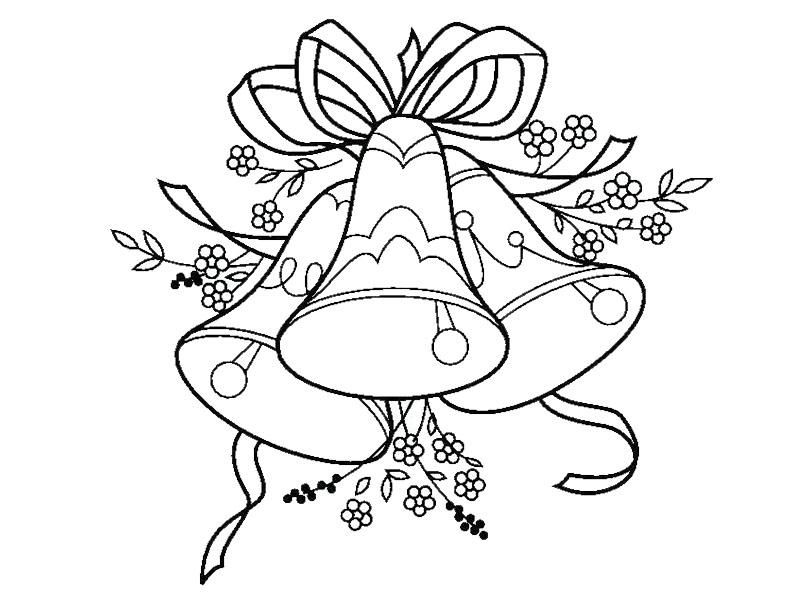 Dibujos Faciles Para Ninos De Campanas De Navidad Para Colorear